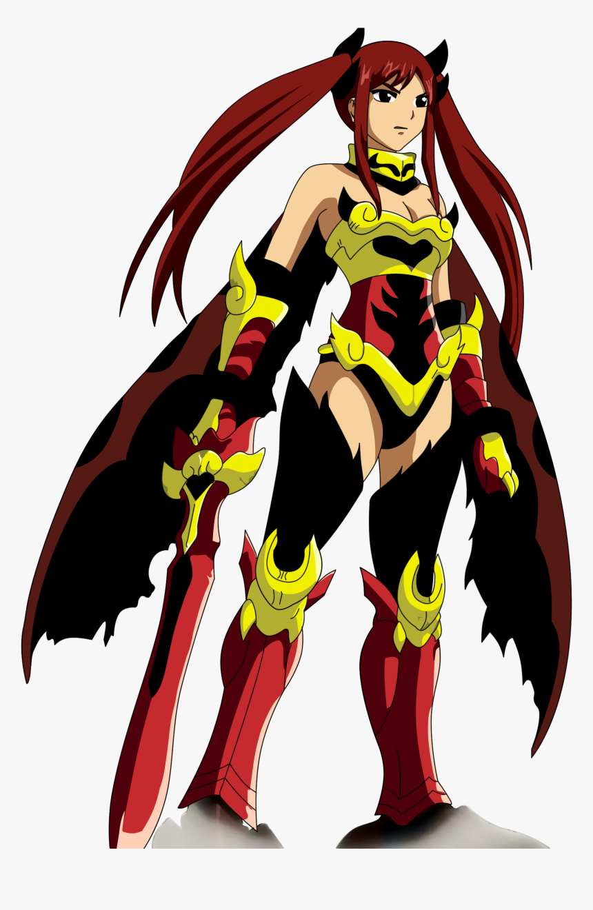 Transparent Flame Texture Png - Fairy Tail Erza Flame Empress Armor, Png Download, Free Download