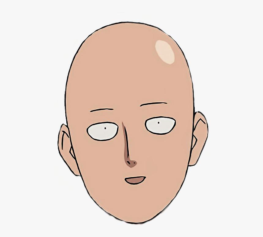 #anime #saitama #onepunchman #onepunchmansaitama #kawaii - One Punch Mans Face, HD Png Download, Free Download