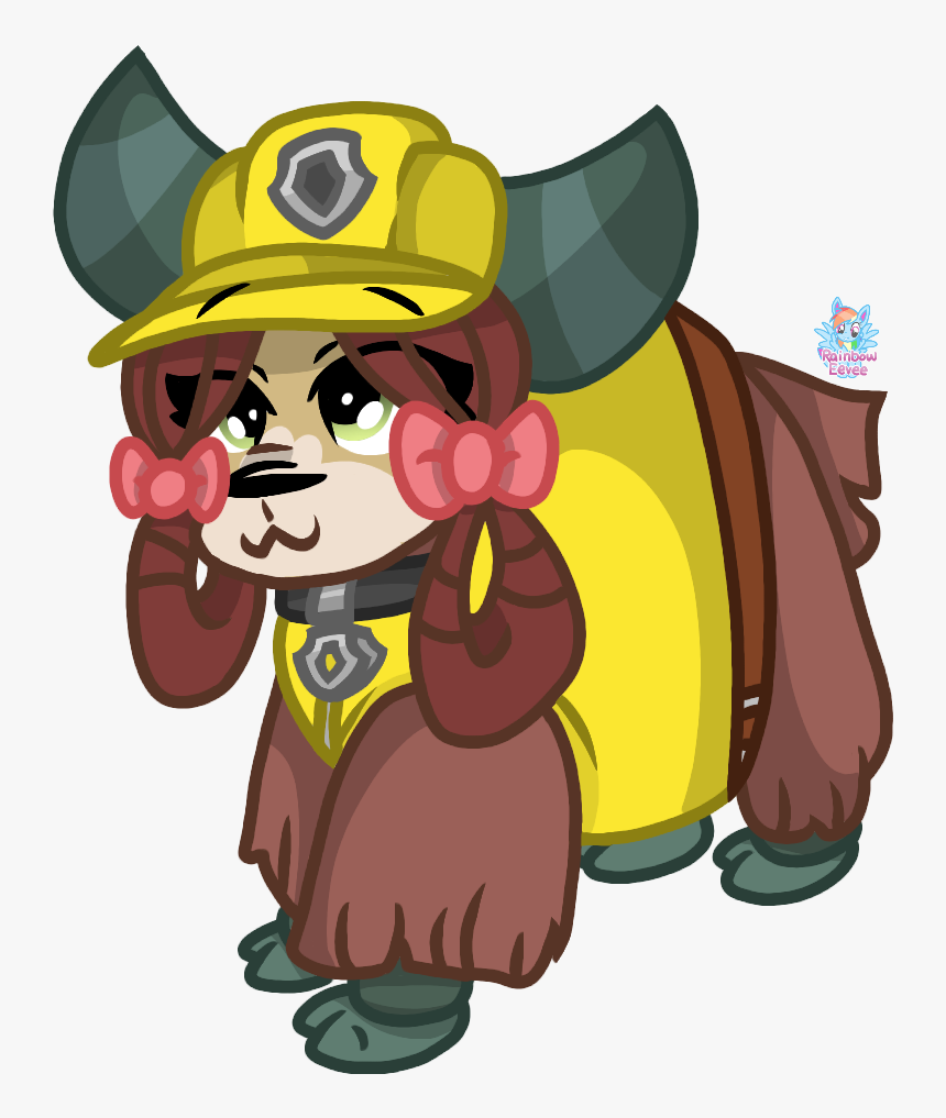 Dress Up As Paw Patrol Rubble - Cartoon, HD Png Download, Free Download