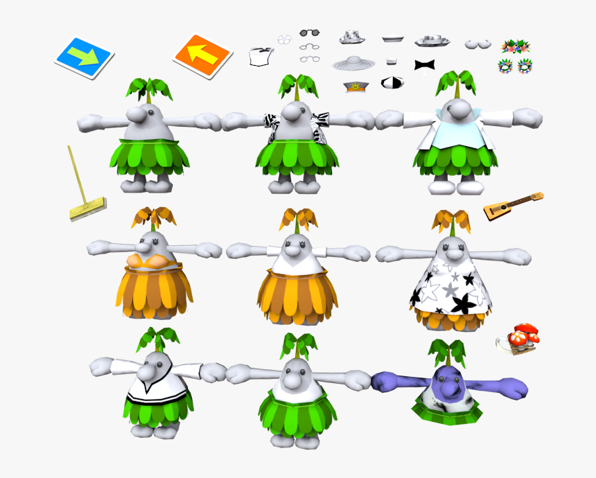 Download Zip Archive - Super Mario Sunshine Pianta, HD Png Download, Free Download