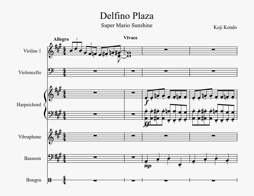 Mario Sunshine Delfino Plaza Music Sheet, HD Png Download, Free Download