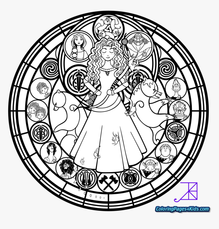 Disney Stained Glass Coloring Pages, HD Png Download, Free Download