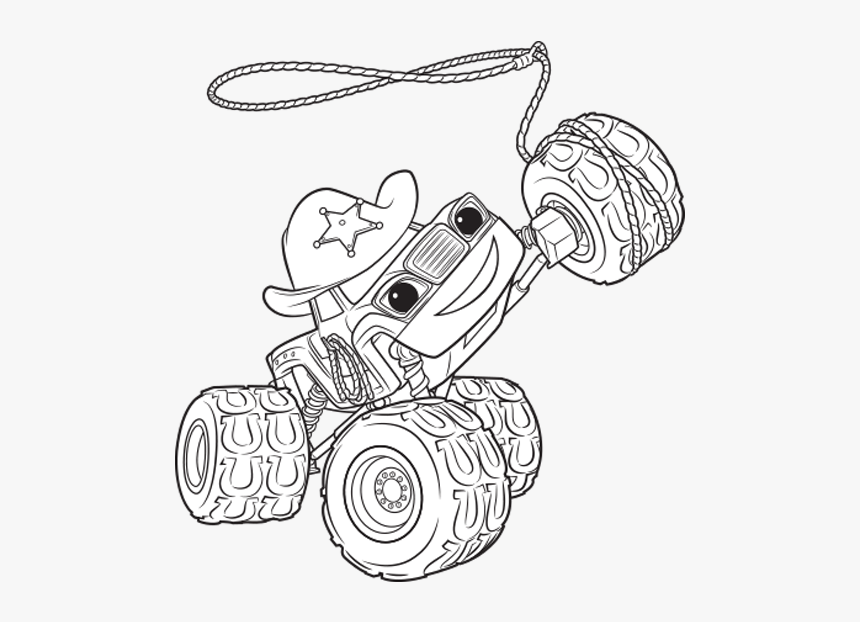 Blaze And The Monster Machines Coloring Pages Starla Hd Png Download Kindpng
