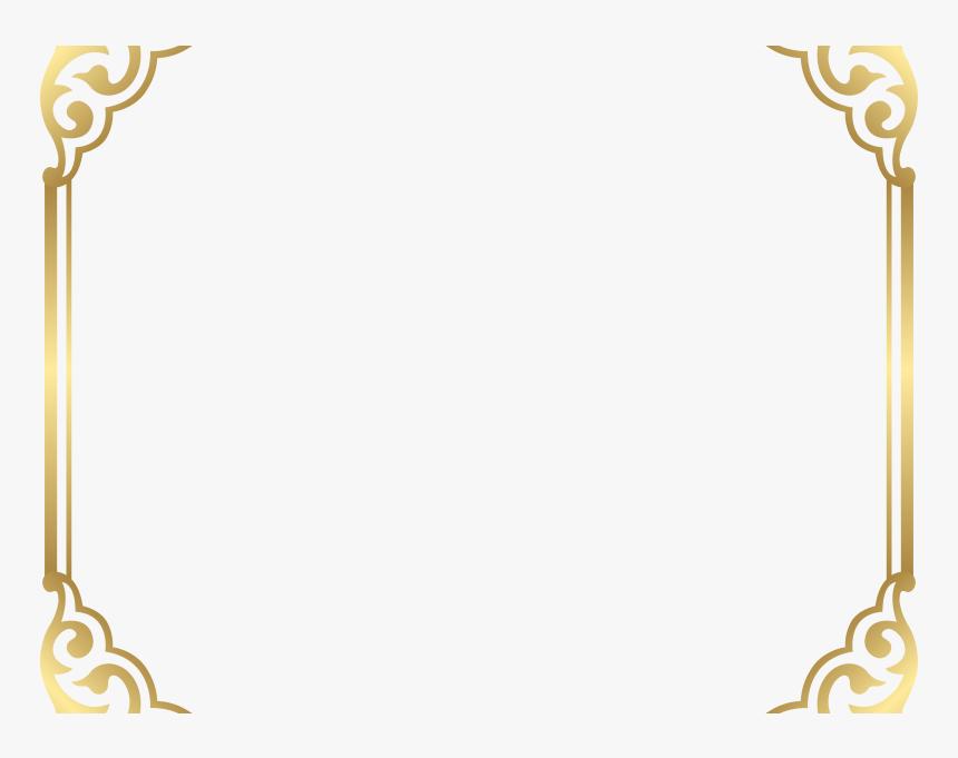 Download Fancy Border Clip Art - Gold Border Frame Png, Transparent Png, Free Download