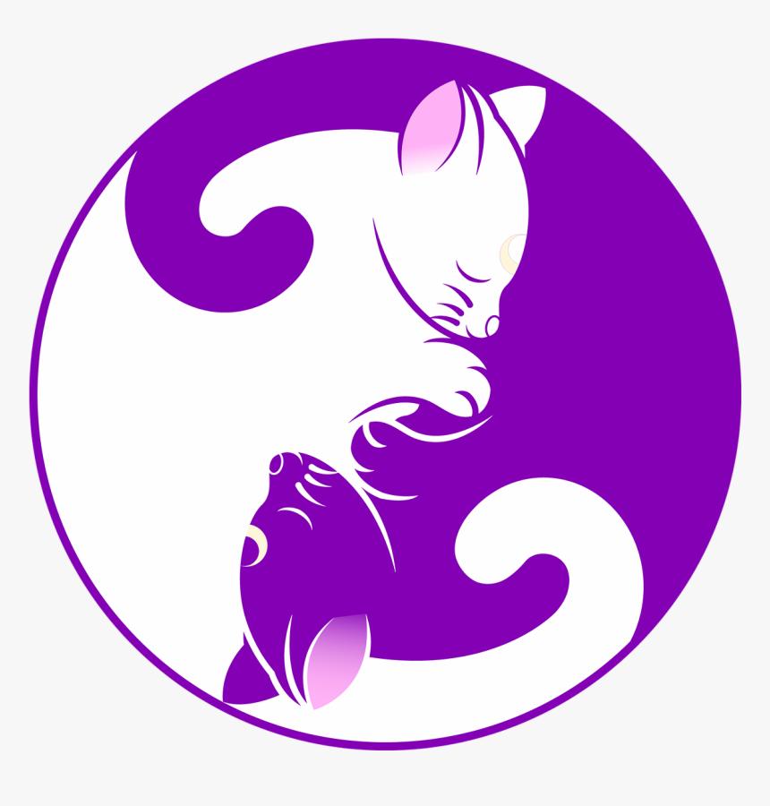 Yin Yang Symbol Cat, HD Png Download, Free Download