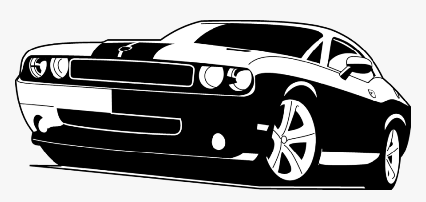 R34 Drawing Charger - Dodge Challenger Clipart, HD Png ... (860 x 408 Pixel)