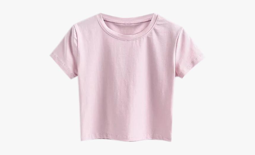 Crop-top - Pink Crop Top T Shirt, HD Png Download, Free Download
