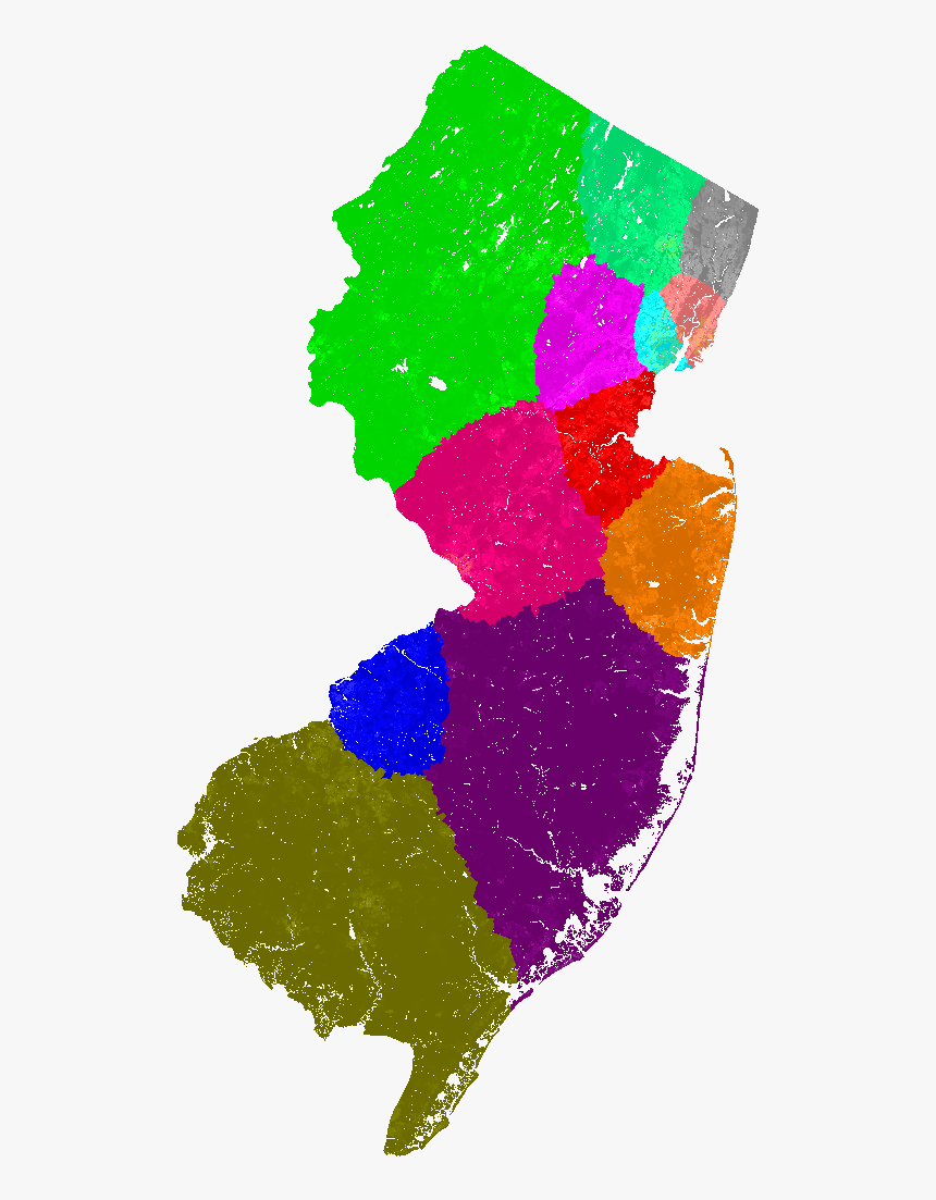 New Jersey Congress Congressional District Map, Current - New Jersey Vector, HD Png Download, Free Download