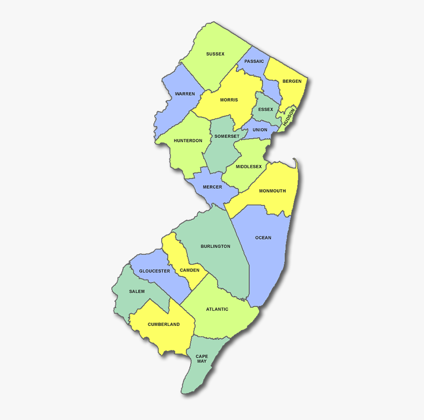Map Of New Jersey, HD Png Download, Free Download