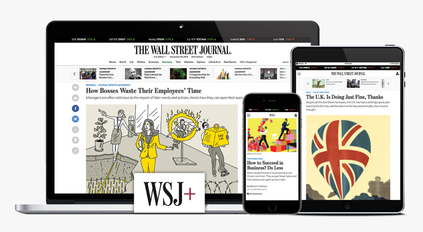 Wall Street Journal Subscription, HD Png Download, Free Download