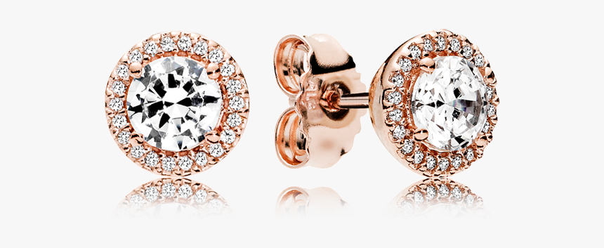Pandora Rose Stud Earrings With Clear Cubic Zirconia - Classic Elegance Pandora Stud, HD Png Download, Free Download