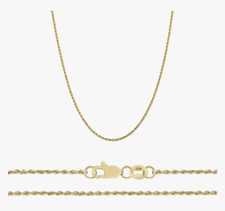 A&m 14k Gold Thin Rope Necklace - Necklace, HD Png Download, Free Download