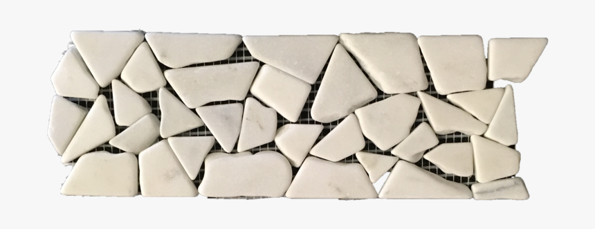 Pearl White Tumbled Stone Border - Triangle, HD Png Download, Free Download