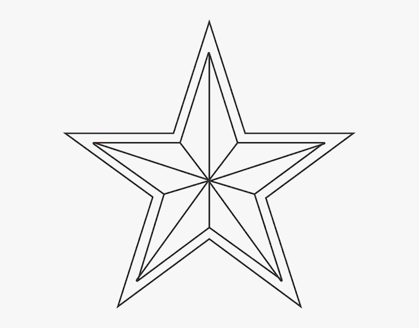 Transparent Nativity Star Png - Christmas Tree Star To Color, Png Download, Free Download
