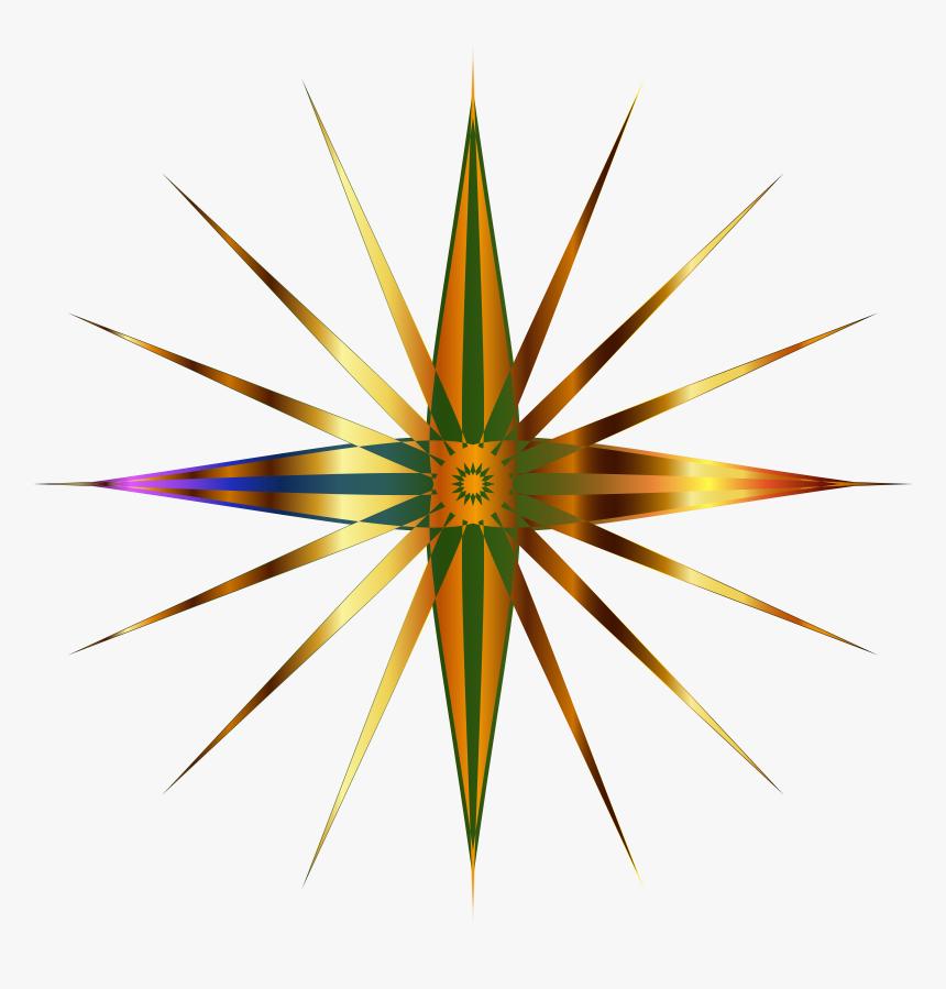 Christmas Star Clip Art Transparent - Christmas Star Clipart Gold Transparent, HD Png Download, Free Download