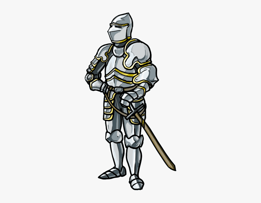 How To Draw A Knight Step By Step - Armor Medieval Knight Drawing, HD Png Download, Free Download