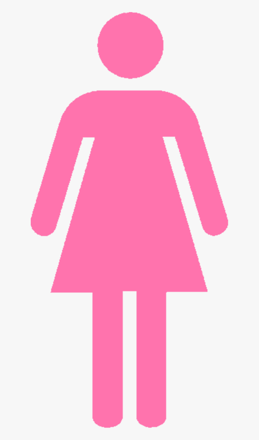 Girls Bathroom Sign Red Female Toilet Sign Hd Png Download
