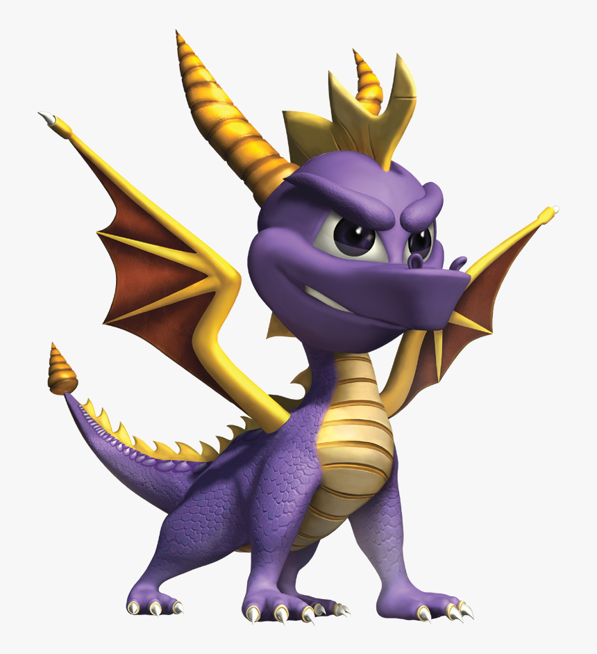 Transparent Video Game Character Png - Spyro The Dragon, Png Download, Free Download