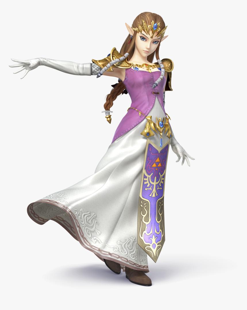 600px-ssb4 - Zelda Artwork - Zelda Super Smash Bros Wii U, HD Png Download, Free Download