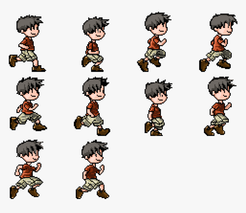 Video Game Character Sprite Sheet, HD Png Download, Free Download