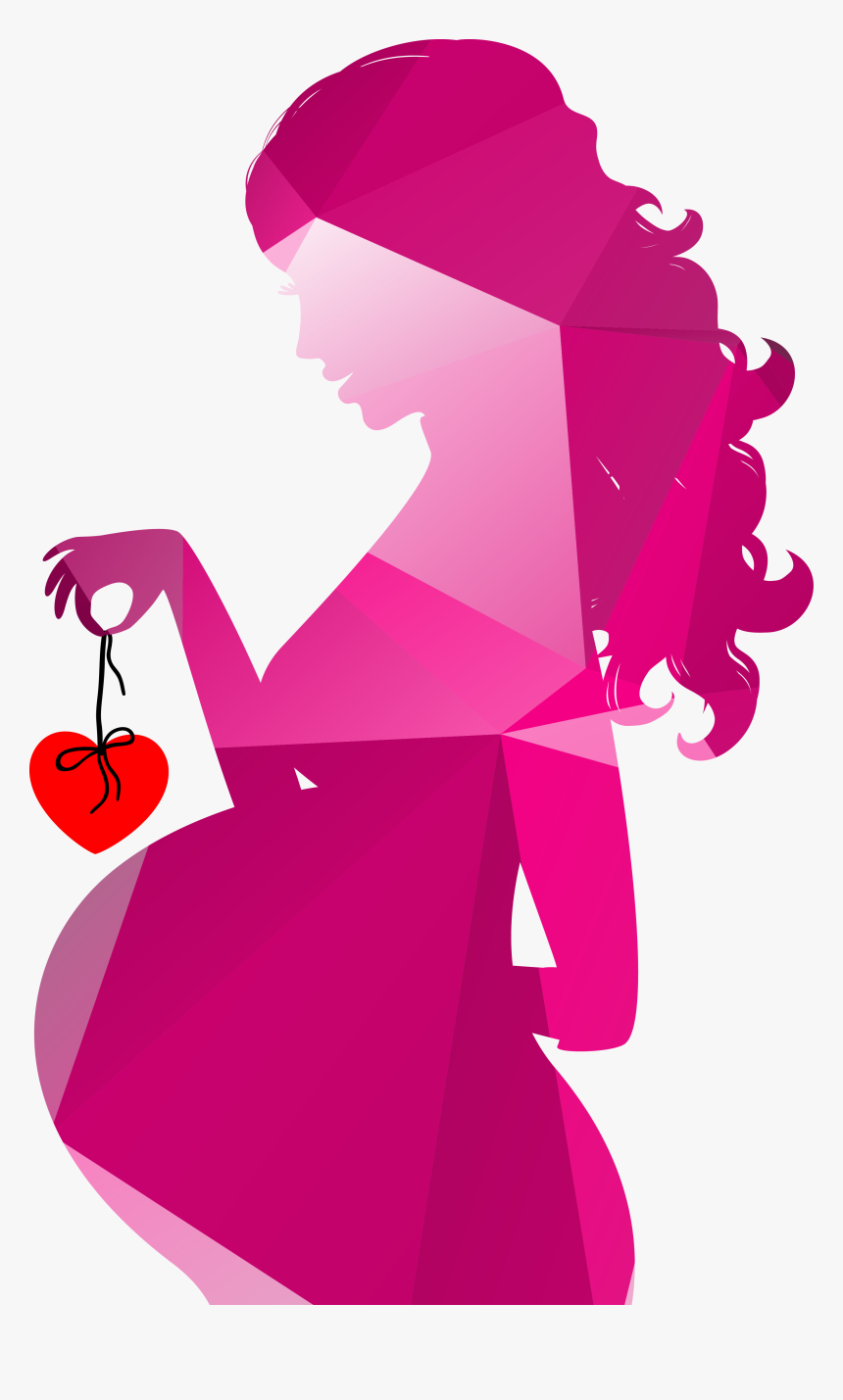 Silhouette Pregnancy Royalty Free Clip Art Transparent Pregnant Woman Silhouette Hd Png Download Kindpng