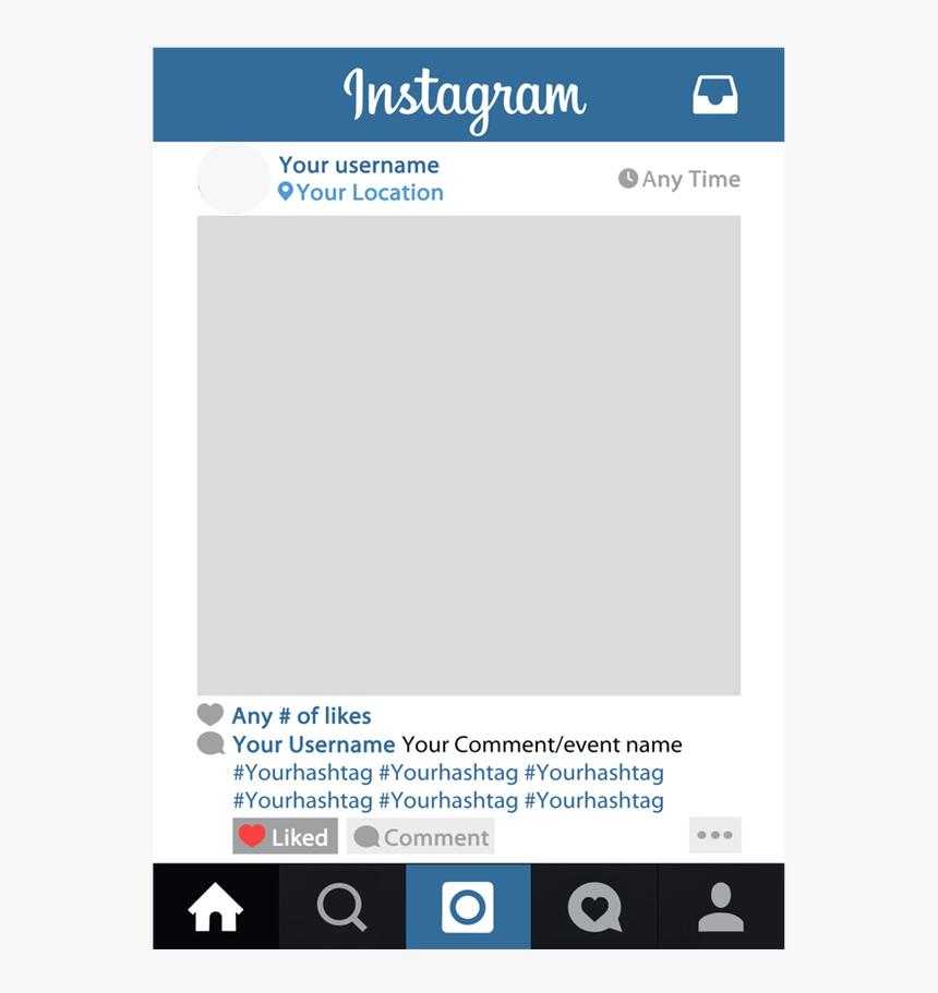 Clip Art Frame Png Frameviewjdi Org - Printable Instagram Frame Template, Transparent Png, Free Download