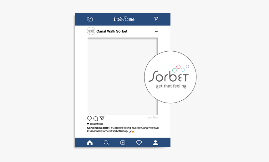Custom Instagram Frames - Sorbet, HD Png Download, Free Download
