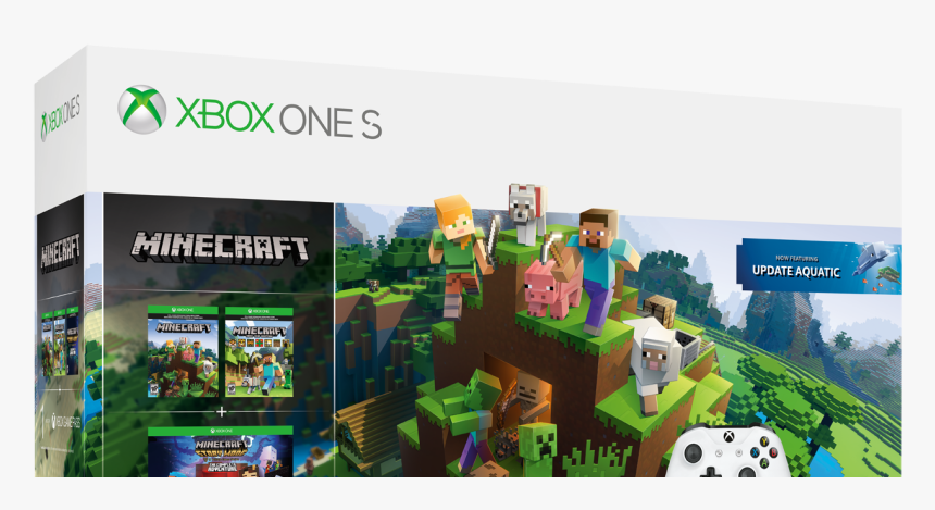 Xbox One Minecraft Bundle 1tb, HD Png Download, Free Download