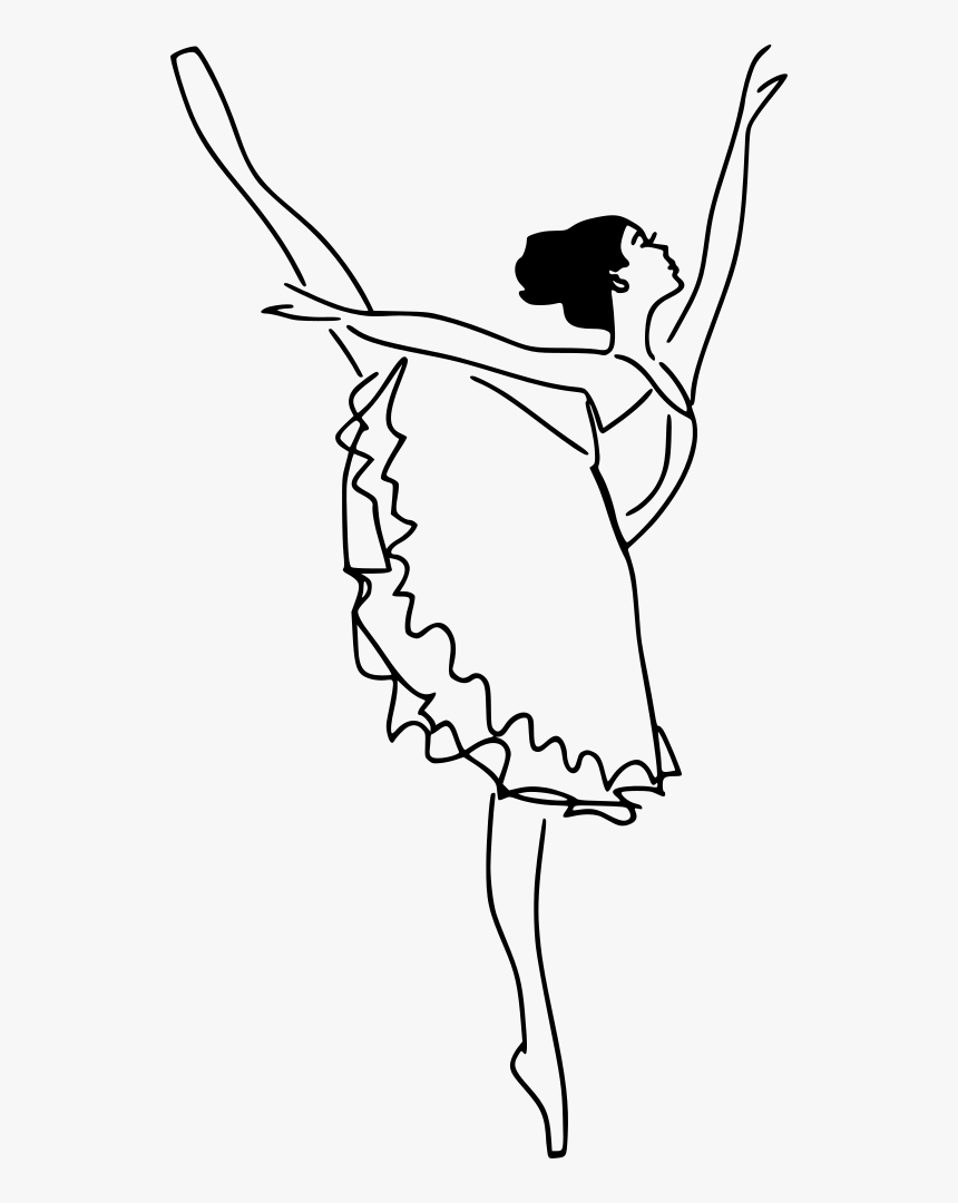 Ballet Dancer Ballet Dancer Drawing Cartoon Hd Png Download Kindpng
