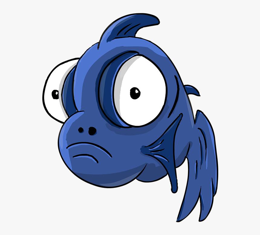 Fish, Fish-telescope, Cartoon, Small Fish, Big Eyes - Cartoon Fish With Big Eyes, HD Png Download, Free Download