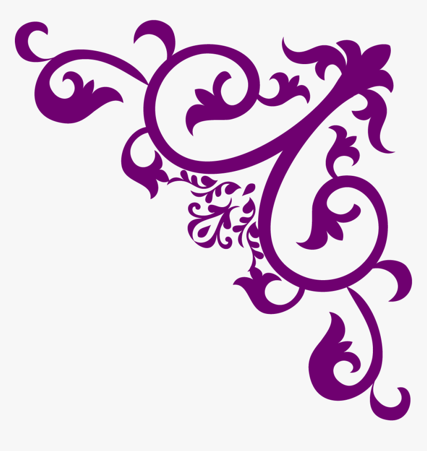 Purple Corner Border Png, Transparent Png, Free Download