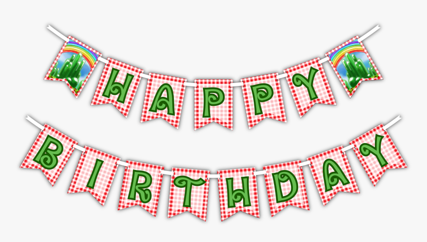 """The Wonderful Wizard Of Oz """"happy Birthday - Transparent Happy Birthday Banner Png, Png Download, Free Download"""