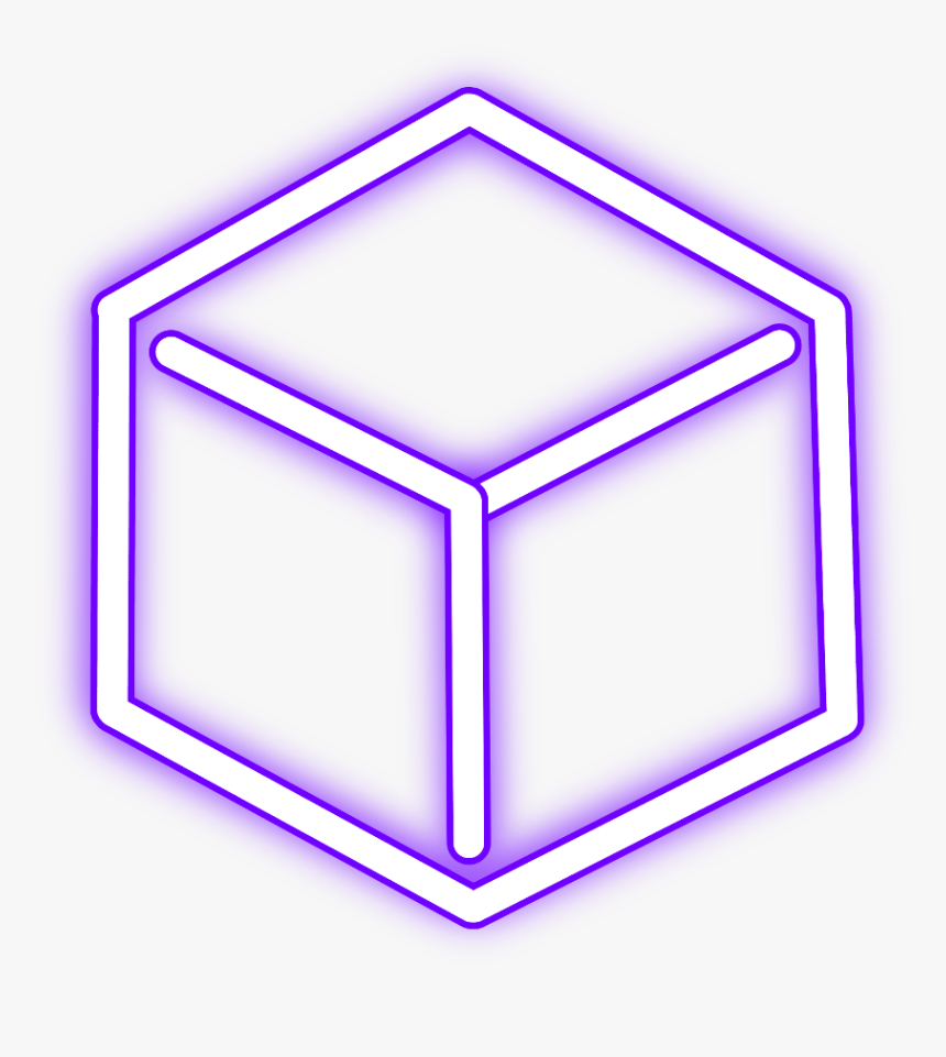 #neon #cube #freetoedit #square #purple #glow #light - Neon Pink Light Square, HD Png Download, Free Download