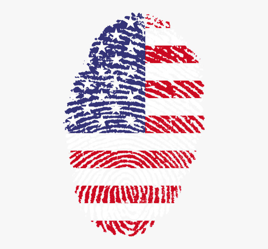 Estados Unidos, Huella Digital, Bandera, Unidos - Usa Flag Fingerprint, HD Png Download, Free Download