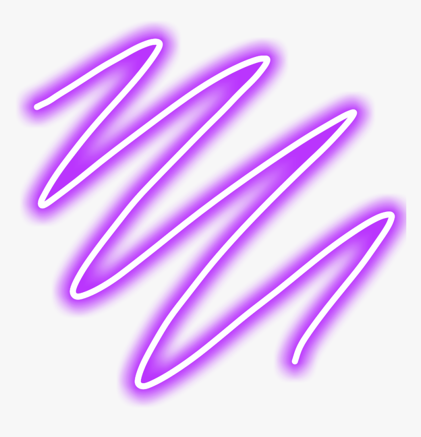 #lines #line #geometric #frame #overlay #glow #neon - Neon Zig Zag Lines, HD Png Download, Free Download