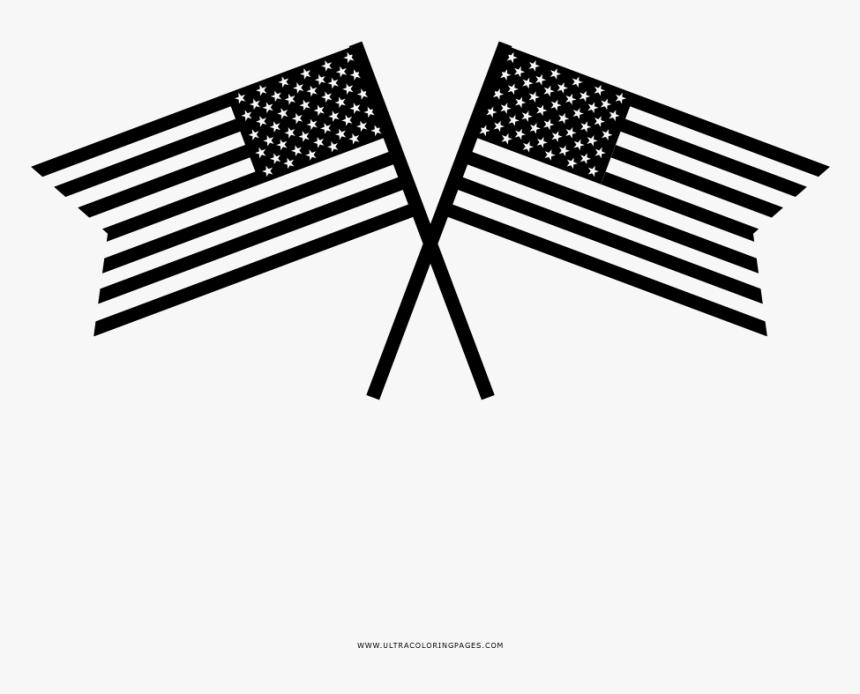 Bandera De Estados Unidos Página Para Colorear - Patriotic Happy 4th July, HD Png Download, Free Download