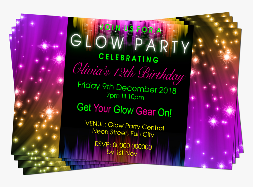 Purple, Pink Purple Green, Party Invitation - Graphic Design, HD Png Download, Free Download