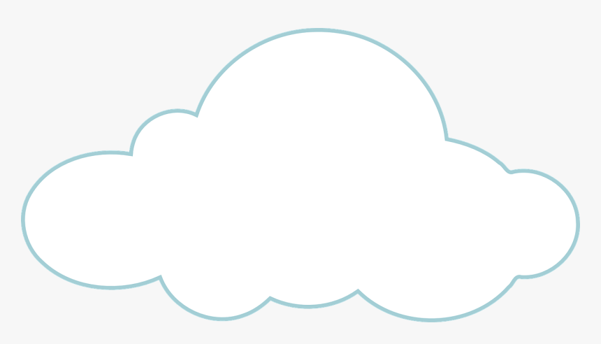 Cloud Template Free Printable, HD Png Download - kindpng
