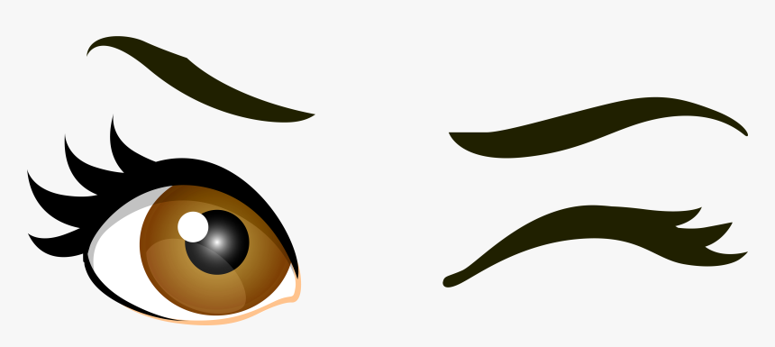 Brown Winking Eyes Png Clip Art Cartoon Eyes Transparent