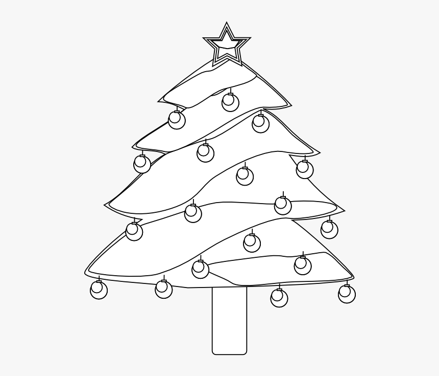 Transparent Evergreen Tree Clipart Black And White Christmas
