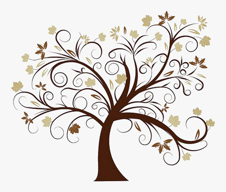 Leaning Brown Family Tree - Transparent Background Family Tree Tree Clipart, HD Png Download, Free Download