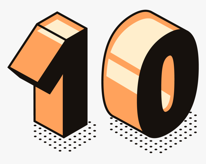 10 Number Png Free Commercial Use Images - Png Images 1 1 Transparent Background, Png Download, Free Download