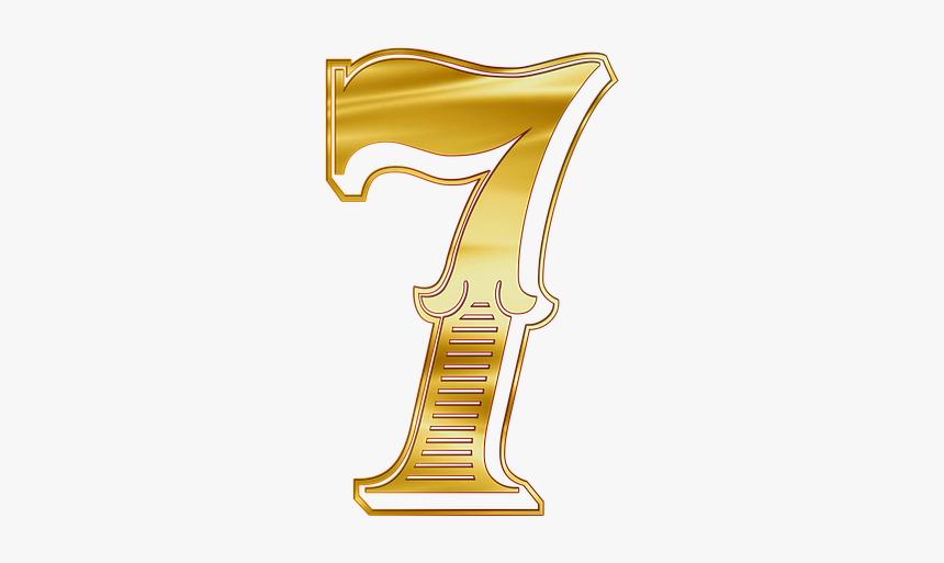 The Number Of, Figure, Seven, Png - Golden The Number 7 Transparent, Png Download, Free Download