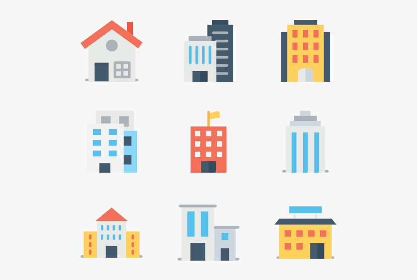 Essential Set - Flat Building Icon Png, Transparent Png, Free Download