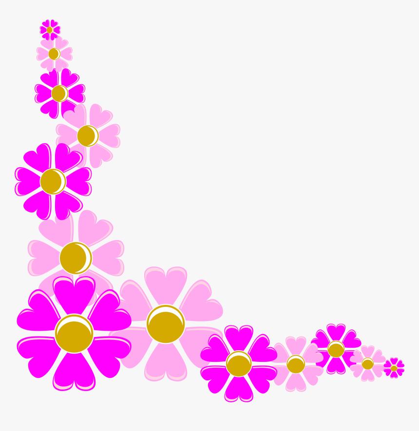 Flower Corner Clipart - Flower Clipart Frame Png, Transparent Png, Free Download