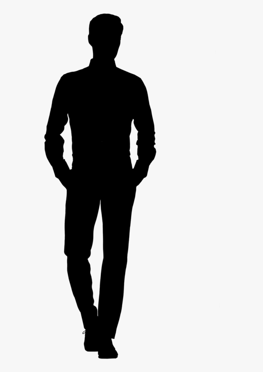 Silhouette, Man, Walking, Tall, Confident, Business - Standing Man Silhouette Png, Transparent Png, Free Download