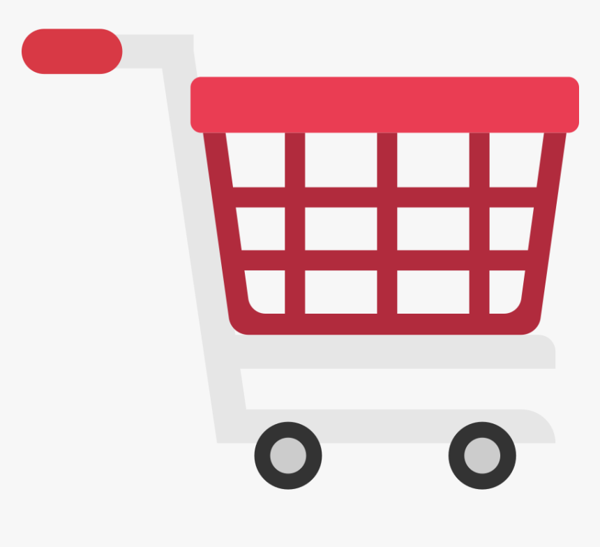 Shopping Cart Flat Icon Vector - Shopping Cart Png Vector, Transparent Png  - kindpng