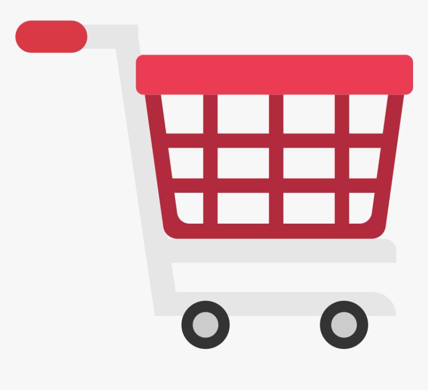 Shopping Cart Flat Icon Vector - Shopping Cart Png Vector, Transparent Png  - kindpng