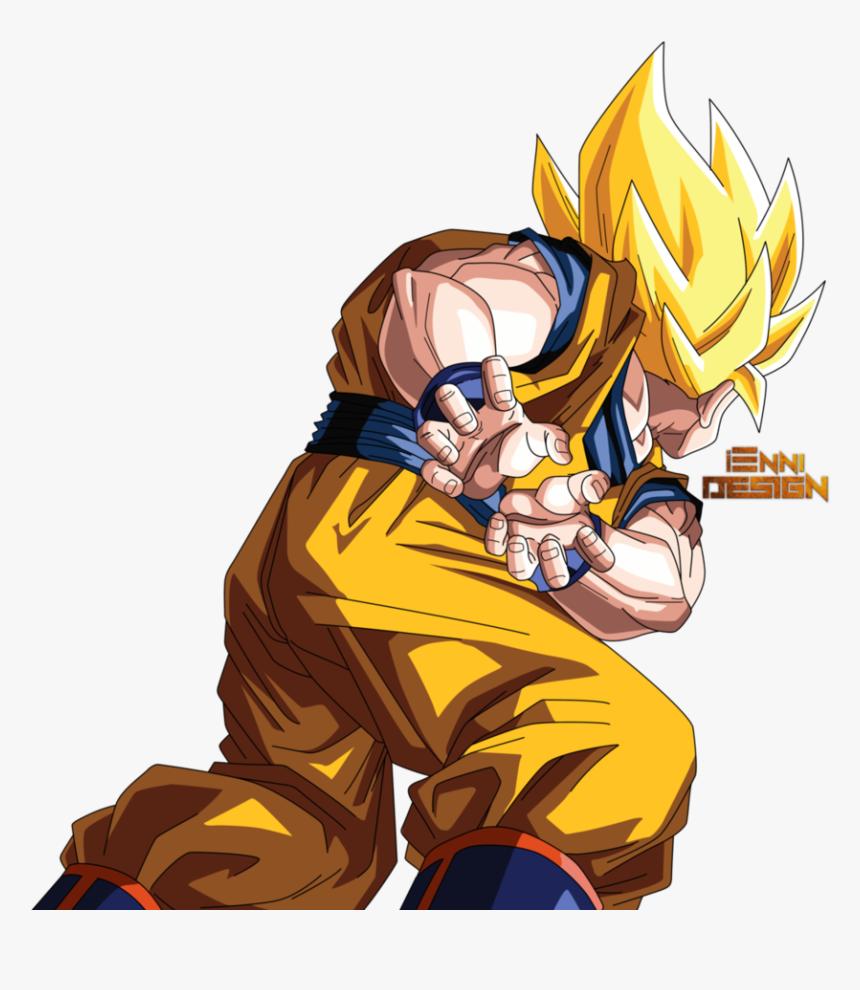 Goku Kamehameha Png - Dragon Ball Z Goku Using Kamehameha, Transparent Png, Free Download