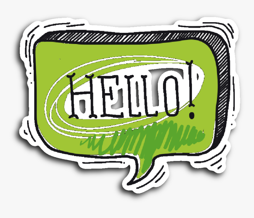Hand Drawn Comic Book Speech Balloon Stickers, HD Png Download, Free Download